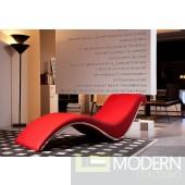 Divani Casa Essen Modern Red Leather Leisure Lounge Chaise
