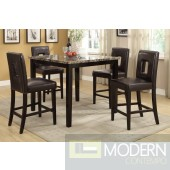5Pc Dark Faux Marble Stone Counter Height Dinette Table  MCGSD2339/21.Free 24 to 48hrs Inside Delivery in DMV metro area.