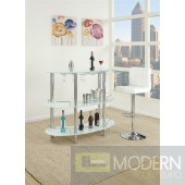 Contemporary  Free Standing Bar  With Stool Option. MCGSA2059/53  Free 24 to 48hrs Inside Delivery for DMV metro area.