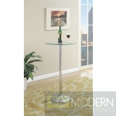 Contemporary  Clear / Black Bar Table MCGSA2067/62  Free 24 to 48hrs Inside Delivery for DMV metro area.
