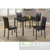 5PC Black Marble Finish Dinette Set MCD2361T. Free 24 to 48hrs Inside Delivery in DMV metro area.