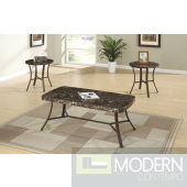 3 pc gray and black faux marble rounded edge coffee and end table set with metal legs Free 24 to 72 hours inside delivery DC,MD,VA