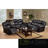 3pc Black Bonded Leather Motion Loveseat sofa and Chair. MCGSL667123  Free 24 to 72 hours inside delivery in DMV Area