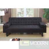 Ebony Microfiber Adjustable Sofa Futon MCGSL7110 Free 24 to 72 hours inside delivery DC,MD,VA