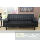 Modern Ebony Faux Leather Adjustable Sofa Futon MCGSL7125 Free 24 to 72 hours inside delivery DC,MD,VA