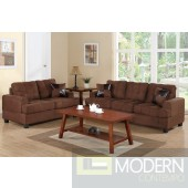 2Pc Chocolate microfiber sofa + loveseat set  MCGSL7575 Free 24 to 72 hours inside delivery in DMV Area