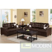 2Pc Espresso Bonded Leather  sofa + loveseat set  MCGSL7577 Free 24 to 72 hours inside delivery in DMV Area