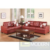 2Pc Burgundy Bonded Leather  sofa + loveseat set  MCGSL7579 Free 24 to 72 hours inside delivery in DMV Area