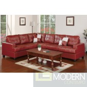 Burgundy Bonded Leather Reversible Sectional MCGSL7642 Free 24 to 72 hours inside delivery