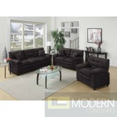 2Pc Black Microfiber Sofa and LoveSeat set  MCGSL7907 Free 24 to 72 hours inside delivery in DMV Area