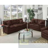 2Pc Chocolate Microfiber Sofa and LoveSeat set  MCGSL7908 Free 24 to 72 hours inside delivery in DMV Area
