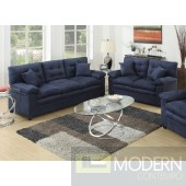 2Pc Royal Blue Microfiber Sofa and LoveSeat set  MCGSL7908 Free 24 to 72 hours inside delivery in DMV Area