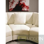 EV 2229 Contemporary White Leather Sectional