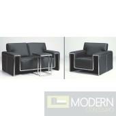 F33 Contemporary Leather Sofa Set