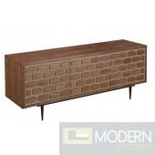 Modrest Cobblestone Modern Walnut Buffet