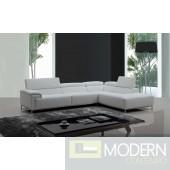 Divani Casa Citadel Modern White Eco-Leather Sectional Sofa