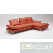 Divani Casa Dahlia 1307 Orange Sectional Sofa Set