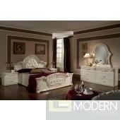 Modrest Rococo - Italian Classic Beige Bedroom Set