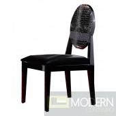 A&X AA018 Modern White/Black Lacquer Chair