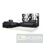 Divani Casa Black Italian Design Modern Sofa Set