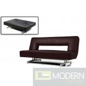 Divani Casa Wilshire - Fold-Out Espresso Leatherette Sofa Bed