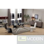Modrest Xavier Modern Clear Glass Rectangular Dining Table