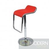 Flat Bar Stool Chair, Red