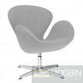 Swan Chair Fabric, Grey Wool Fabric