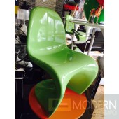 Modern Panton S Dining Chair - Green