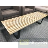 Mid Century Modern 5ft George Nelson Wood Platform Bench Natural Table