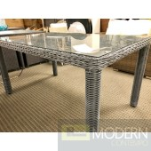 Modern Outdoor Patio Summons Grey Wicker Dining Table Furniture