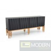 Token Modern Black & Rosegold Buffet