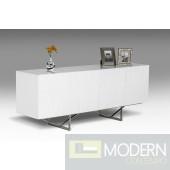 Modrest Chrysler Modern White High Gloss Buffet