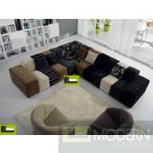 Modern Corner fabric colourful fabric sofas Sectional MCGPS1017