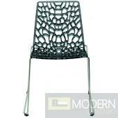 Modrest Groove - Modern Grey Italian Dining Chair