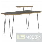 Hanh Desk w/ Right Shelf in Grey