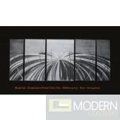 Modern Contemporary Abstract Metal Wall Sculpture Art Work Home Decor 5pc/Set