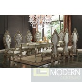 EMELIA 9 Piece Victorian Style Dining table Set in Champagne