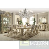 7PC Traditional Cream Beige Table & Chairs Antique Dining Room Set MCHD5800
