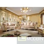 Jasmine Upholstery Living Room Set Victorian, European & Classic Design Sofa Set HD663