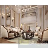 Alix Upholstery Living Room Set Victorian, European & Classic Design Sofa Set HD 823