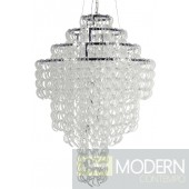 Nuevo Grand Letizia Chandelier - 31W in. - Silver