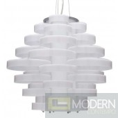 Nuevo Jacques Single Bulb Pendant Lamp - White