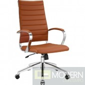 Modern Conference Office Chair High Back, Brown