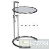 Hillary - Modern Adjustable Glass End Table