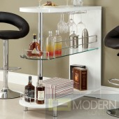Contemporary  Three tier White/ Black Bar with Wine Storage  MCGSA2136/35  Free 24 to 48hrs Inside Delivery for DMV metro area.