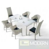 Renava H10 White Patio Dining Set