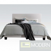 Modern WHITE Leatherette Upholstered Bed MCGS25710 Only Free Inside Delivery for DMV metro area
