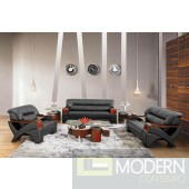 Divani Casa 2034 Modern Black Leather Set