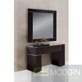 Modrest Hampton Dark Wenge Wall Console With Mirror